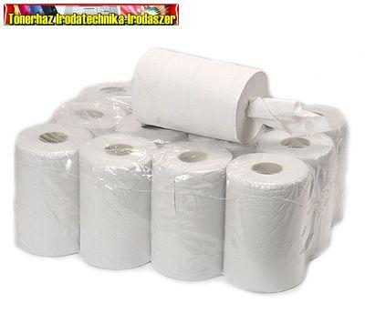 Hengeres kéztörlőpapír, 2 rétegű 1tek - fehér- 14CM