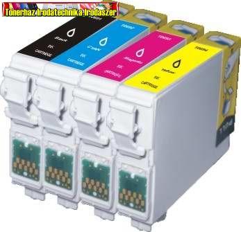 01-07111 01-0711  Epson T0711(T0891),T0712(T0892),T0713(T0893),T0714(T0894) (  6. generációs ) Ezprint utángyártott tintapatron