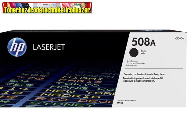 Hp eredeti CF360A Lézertoner  508A fekete 6k