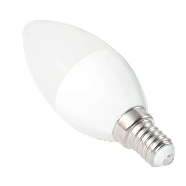 LED izzó C37 E14 5W 270° hideg fehér