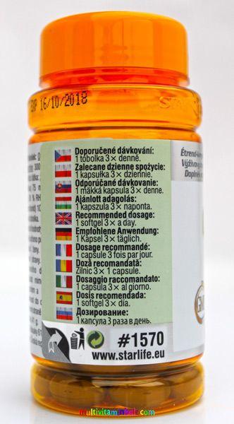 Metabolite Star 60 db - lecitin, Kelp és B6-vitamin az idegrendszer, az emésztőrendszer és a pajzsmirigy működésének támogatására - StarLife