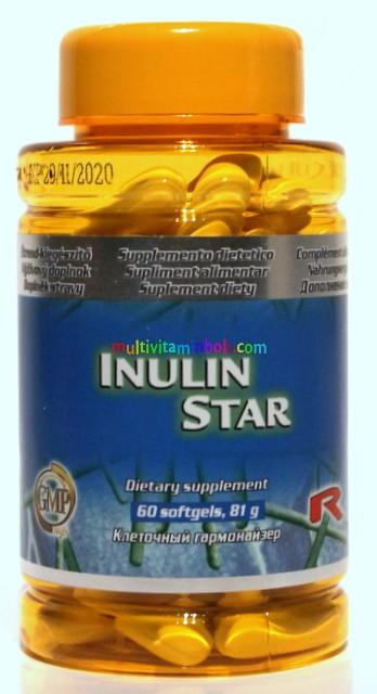 Inulin Star 60 db - a bélflóra egészségéért cikóriából kivont inulinból - StarLife