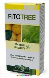 FitoTree 30 db kapszula, Paraziták, férgek és gombák ellen, mikrokapszulázott természetes összetevőkkel - ErbaVita