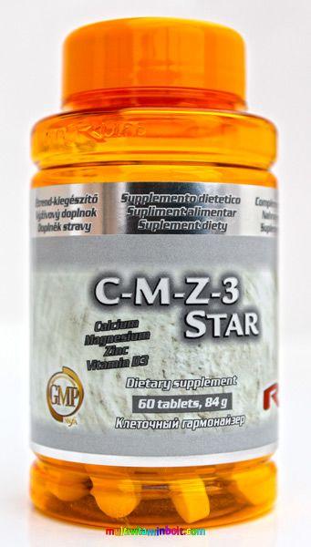 C-M-Z-3 Star 60 db tabletta - Kalciummal, magnéziummal, cinkkel és D-vitaminnal - StarLife