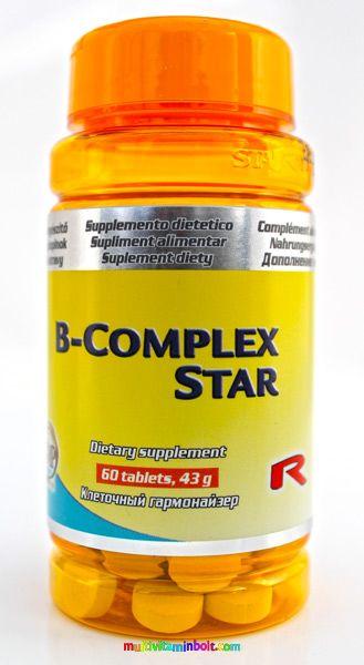 B_COMPLEX_30_db_tabletta_B_vitaminokat_tartalmazo