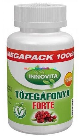 Tőzegáfonya Forte Megapack 100 db tabletta 600 mg - Innovita