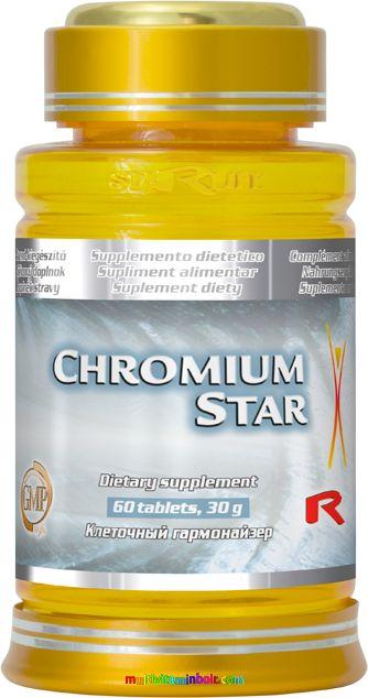 Chromium Star 60 db tabletta, vércukorszint normalizálásában, fogyásban segít - StarLife