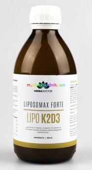 Liposomax Vital K2-D3 + magnézium,  liposzómás étrendkiegészítő ital 300 ml - HerbaDoctor