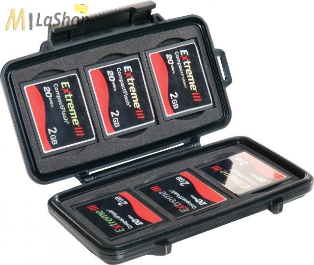 Peli 0945 CF memóriakártya tartó tok, Belső: 122x57x14 mm