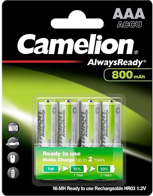 Camelion Always Ready NI-Mh akku mikro AAA  800 mAh bl/4