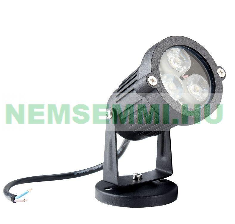 LED lámpa Vízalatti reflektor 12V 3W LED-es vízálló, vízalatti egyenáramú DC fényszóró IP68, meleg fehér fény