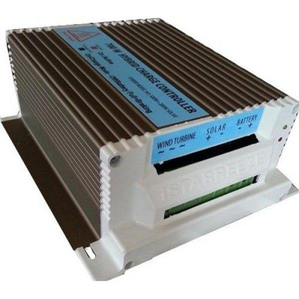 24V 500W + 150W hibrid töltésszabályozó AC 24V -> DC24V  háromfázisú szélkerékhez + 150W napelemhez egyszerre! szélgenerátor szélkerék szélturbina