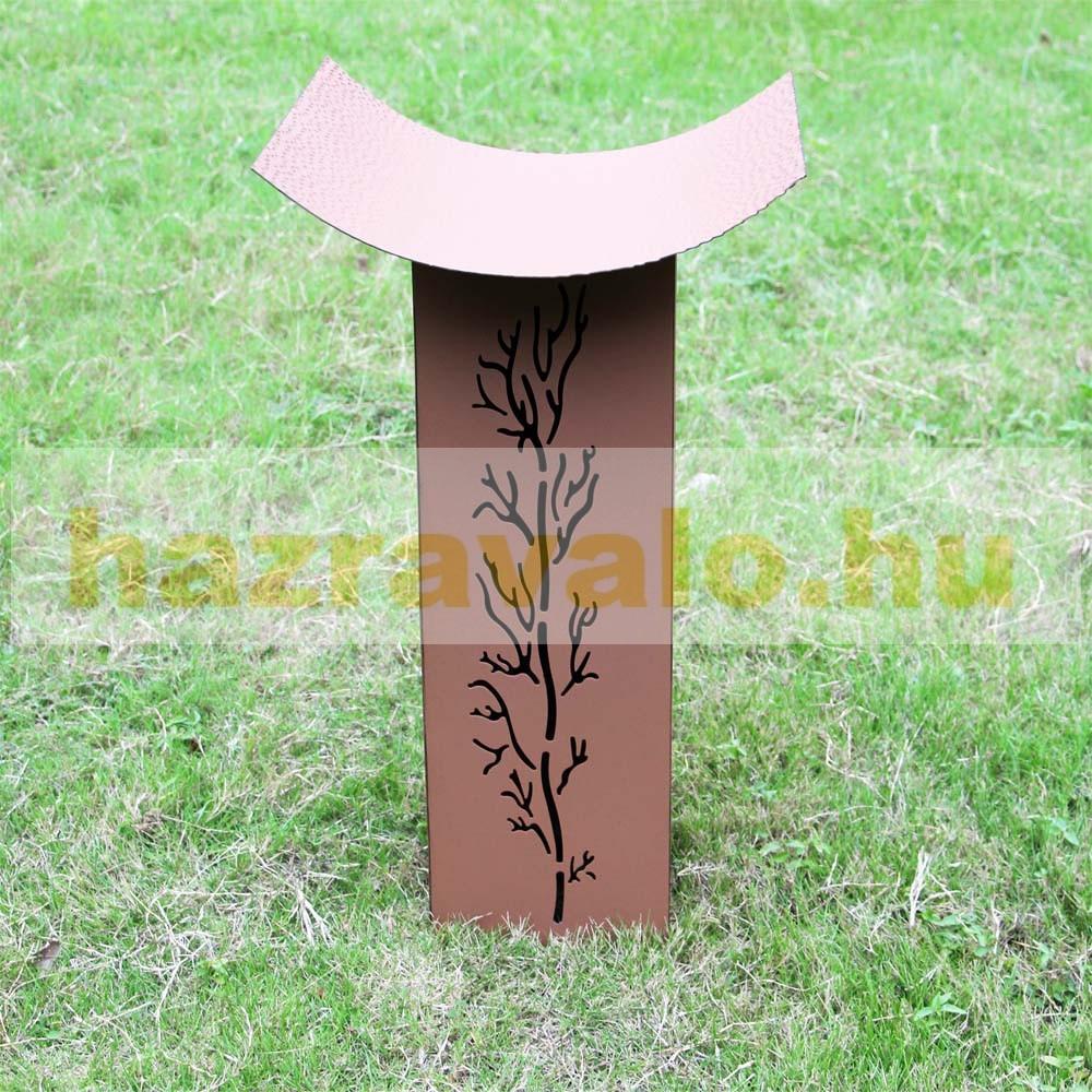Rozsdamentes virágtartó állvány bambusz minta