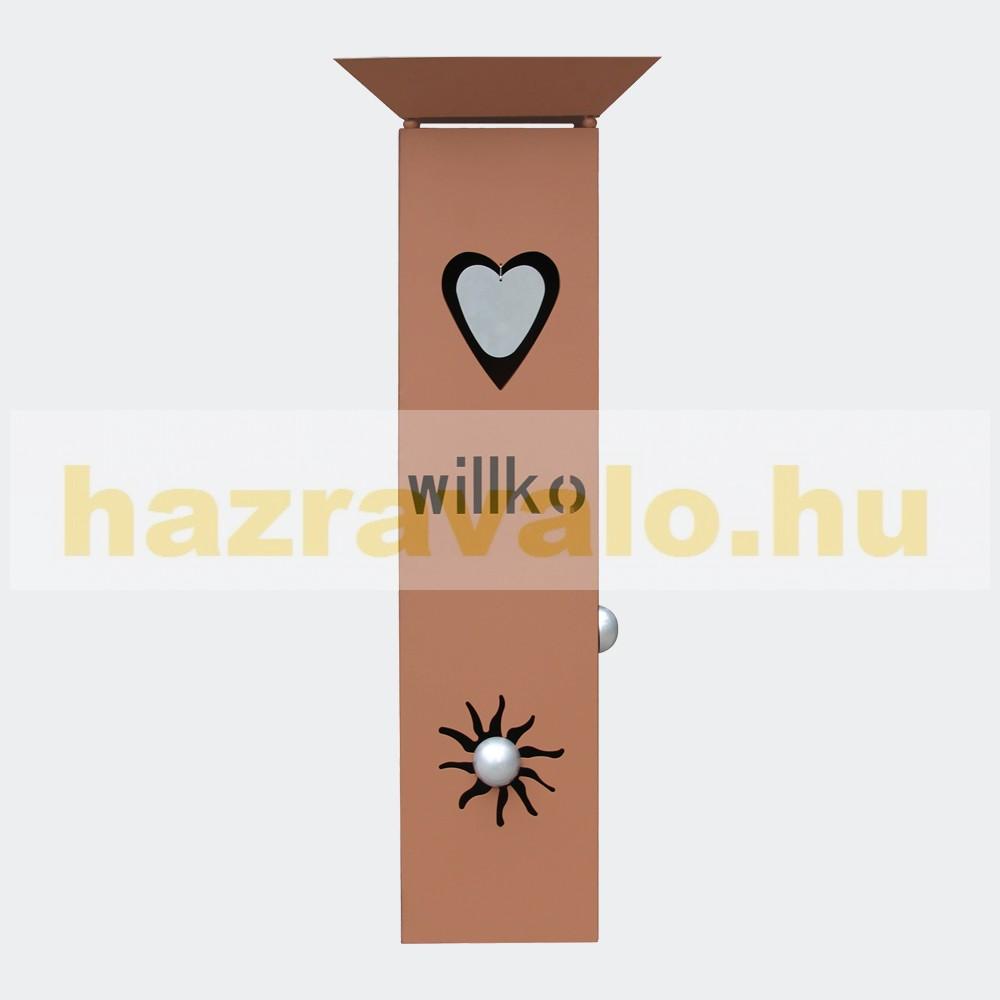 Rozsdamentes virágtartó állvány Herzlich Willkommen