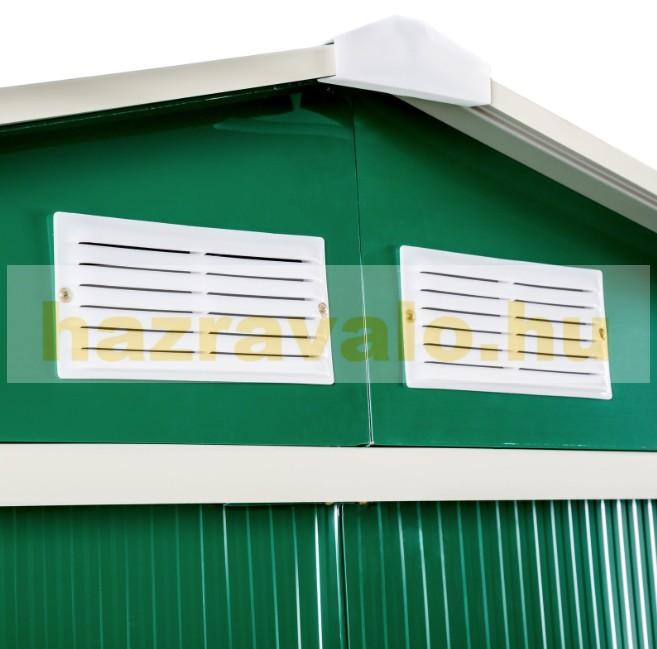 Kisház, horganyzott acél kerti fészer szerszámoskamra ház 214x130x185cm