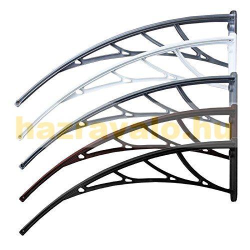 Polikarbonát tető CELLOX 120x90 Fehér keret áttetsző üregmakrás polikarbonár tető például bejárati ajtó vagy ablakok fölé. Szállítás könnyített csomagolás