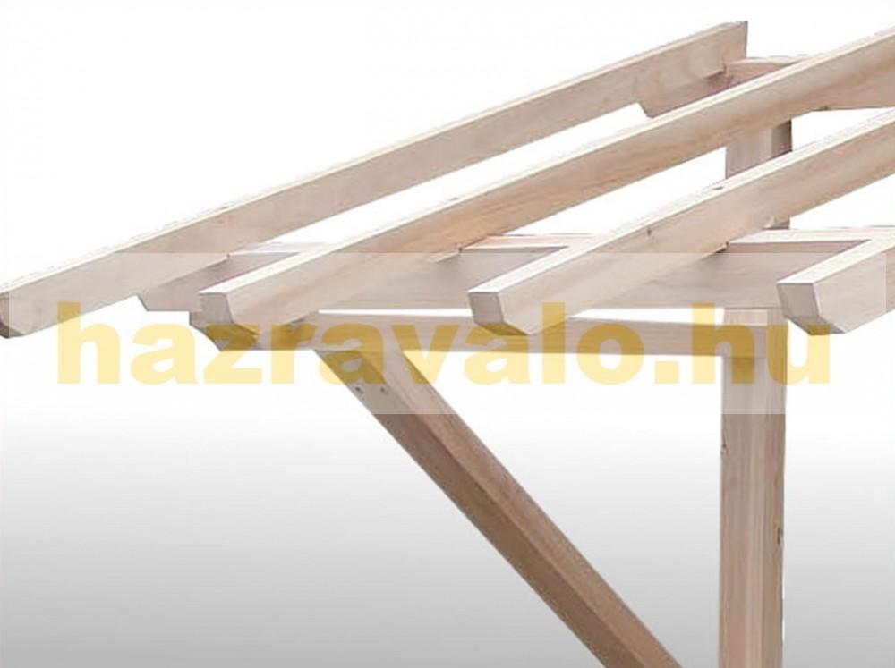Fa keretes esővédő előtető védtető konzol bejárati ajtó fölé