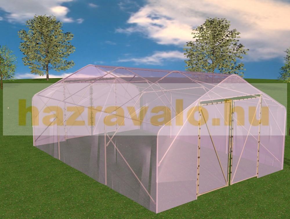 Fóliasátor növénytermesztéshez 600x400x250 cm 24 m² melegház bővíthatő 64 m²-ig
