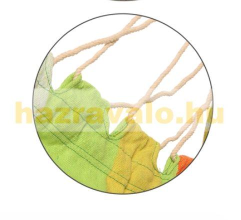 Relax 3 kényelmes fa rudas zöld függőszék 1 kampós