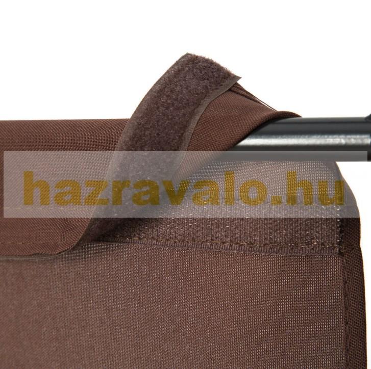 Spanyolfal, térelválasztó harmonika beltéri paraván 180 cm magas barna színben könnyen felállítható