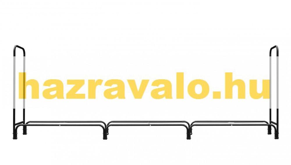 Tűzifa tároló nagyméretű tüzifa tartó keret 362 x 35 x 122 cm