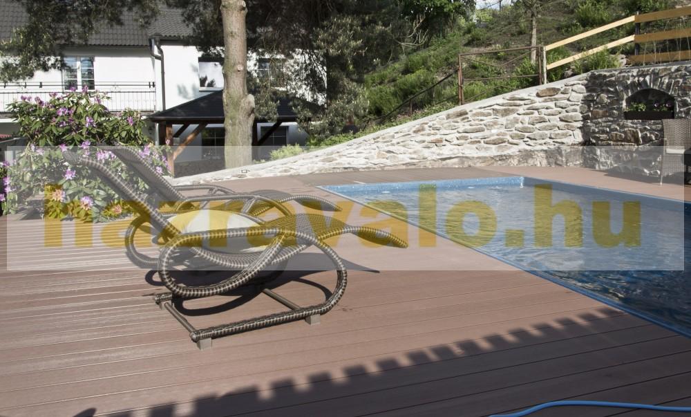 Takaróléc WPC padlólap 0,9x9x200 cm Fahatású Cumaro élzáró