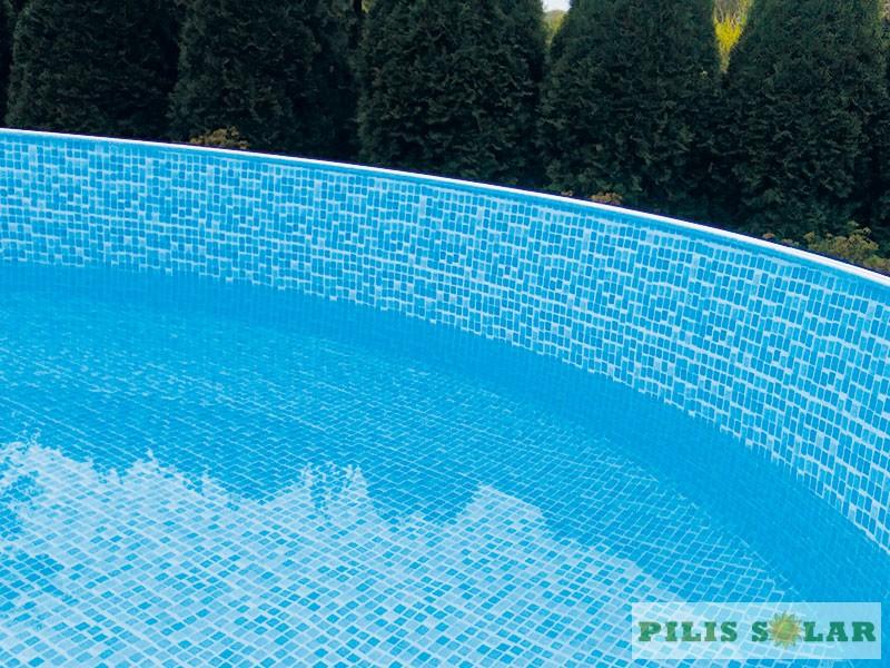 Medence belső fólia mozaik mintás 4,6mx1,22m, 0,3mm kerek