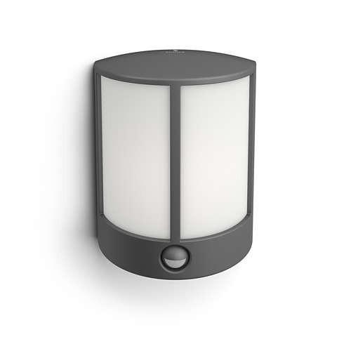 Philips 164659316 Stock kültéri fali lámpa (antracit szürke) 2700K 1x6W mozgásérzékelős
