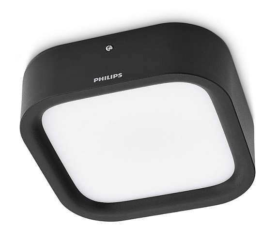 Philips 172693016 Puddle kültéri fali/mennyezeti lámpa (fekete) 1x3W
