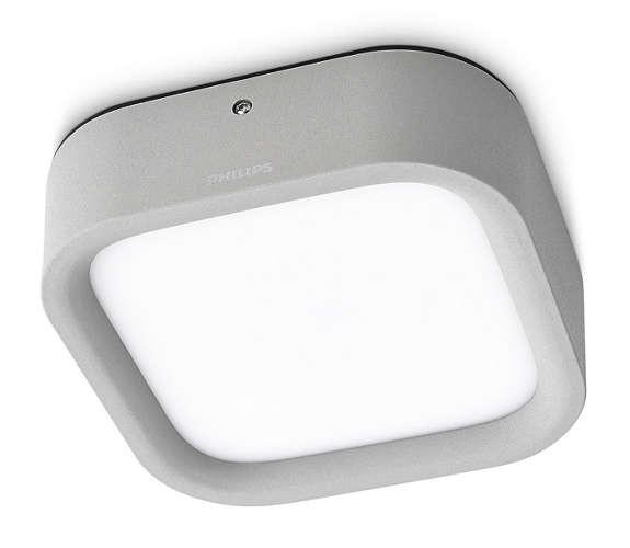 Philips 172698716 Puddle kültéri fali/mennyezeti lámpa (szürke) 1x3W