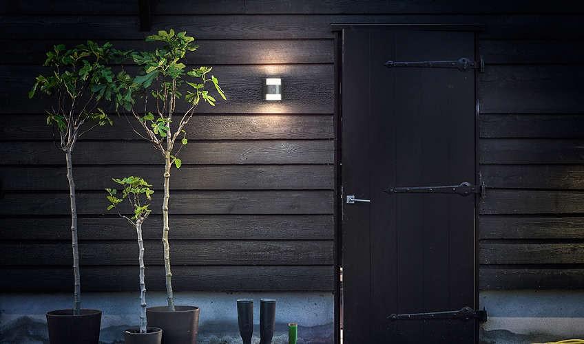 Philips 173224716 Grass kültéri fali lámpa (rozsdamentes acél) 2x4.5W mozgásérzékelős