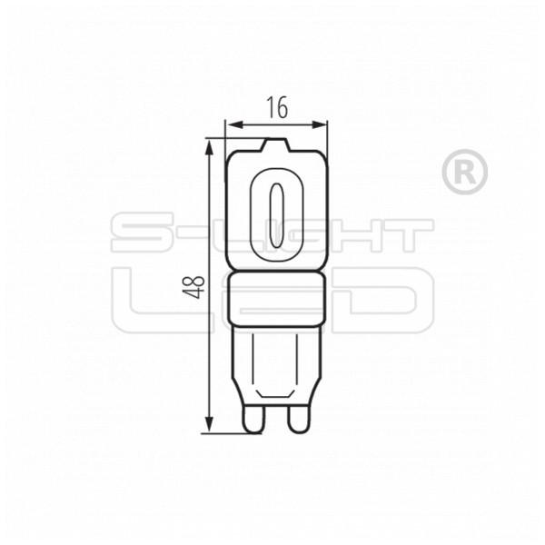LED G9 2.5W Kanlux GIO LED 200lumen 4000K