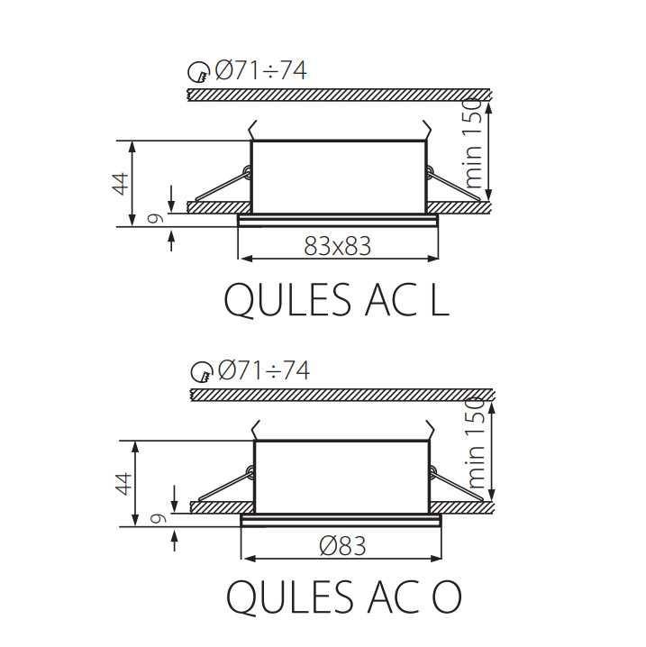 Kanlux QULES AC L-C  26302 IP44 SPOT