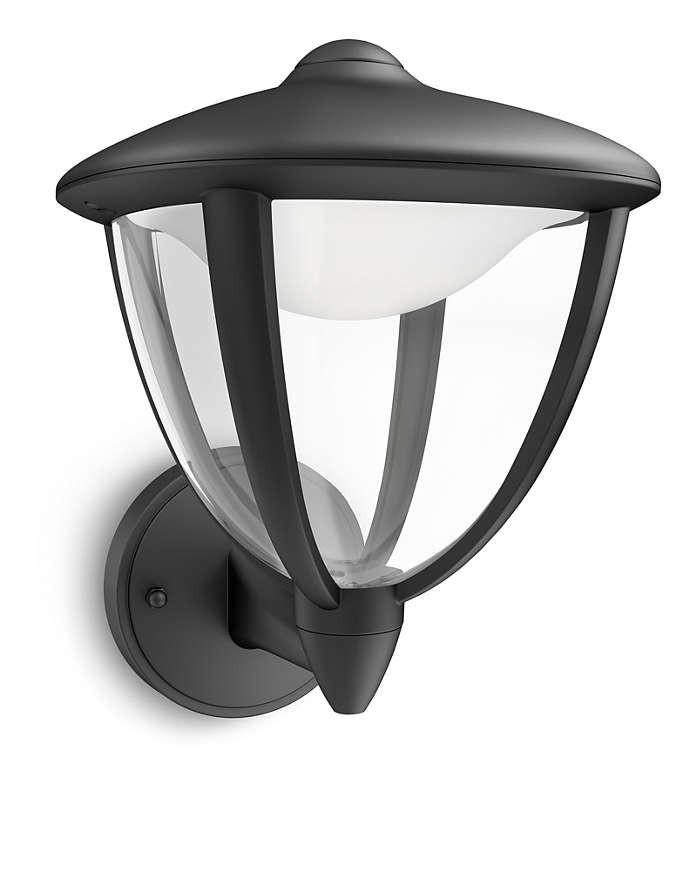 PHILIPS  Robin wall lantern black 1x4.5W 230V15470/30/16