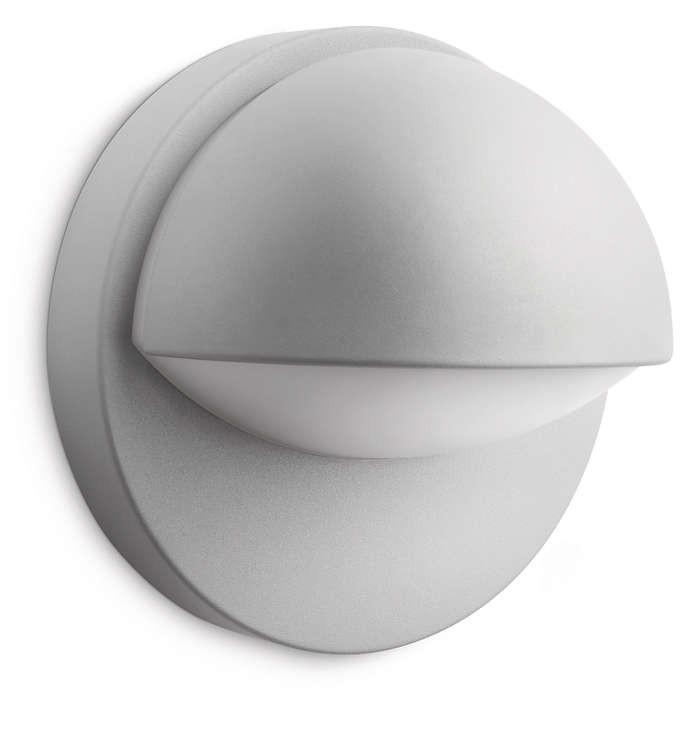 PHILIPS  June wall lantern grey 1x12W 230V16245/87/16
