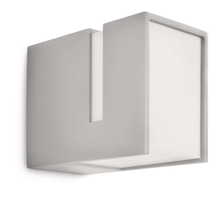 PHILIPS  Acres wall lantern grey 1x20W 230V 16936/87/16