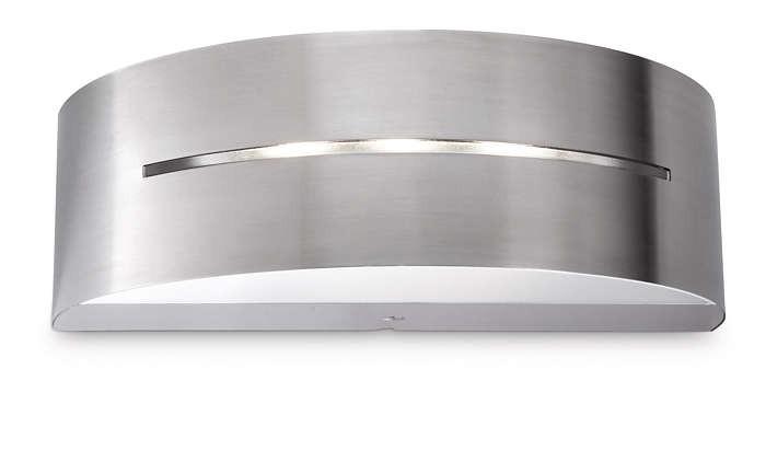 Philips 172154716 Birdseye kültéri fali lámpa (rozsdamentes acél) 3x1W