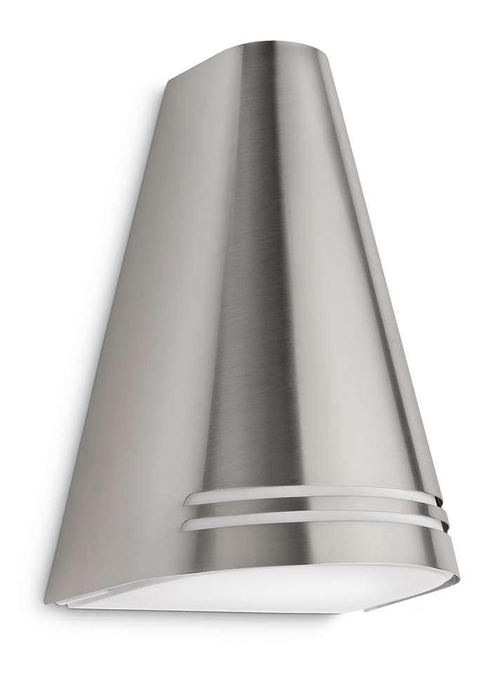 Philips 172264716 Woods kültéri fali lámpa (rozsdamentes acél) 1x15W 230V