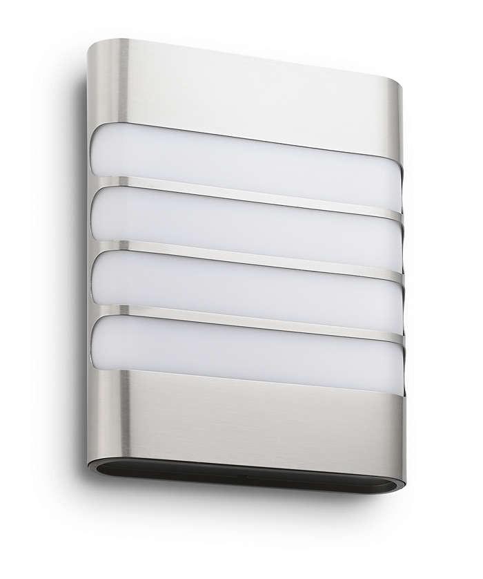 Philips 172734716 Raccoon kültéri fali lámpa (rozsdamentes acél) 1x3W
