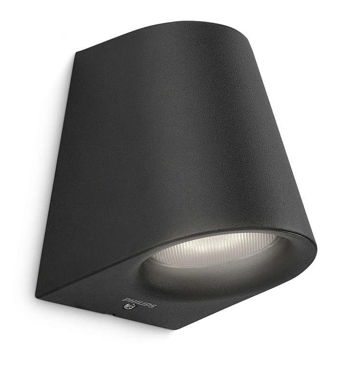 PHILIPS  Virga wall lantern black 1x3W SELV17287/30/16