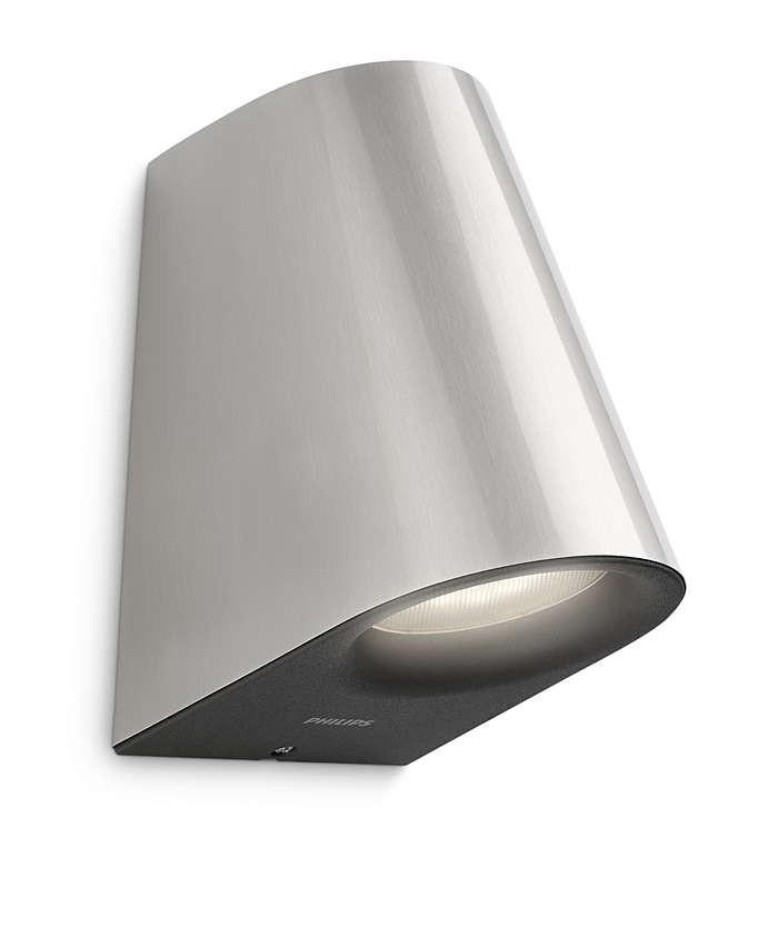 PHILIPS  Virga wall lantern inox 2x3W SELV17288/47/16