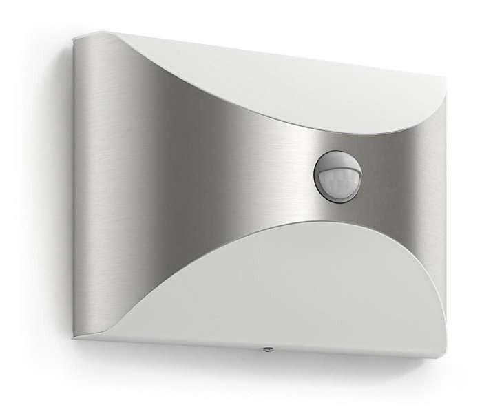 Philips 172994716 Herb kültéri fali lámpa (rozsdamentes acél) 1x6W 230V mozgásérzékelős