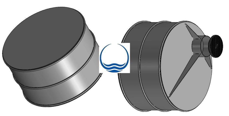 2.1. - 3 m3-es PPE/PEE műanyag esővíz gyűjtő tartály