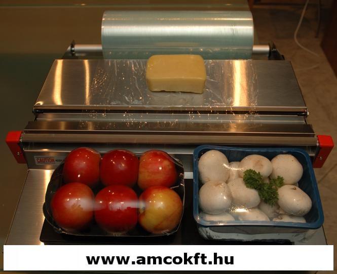 Sztreccsfólia, PE, élelmiszerhez, 300mm, 1500m, 10my, 4,14kg/tekercs