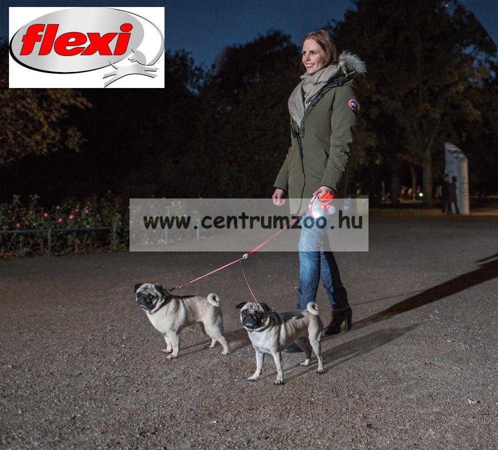 Flexi Vario Tape NEW S ANTHRACIT SZALAGOS 5m 15kg automata póráz -SZÜRKE (11677)