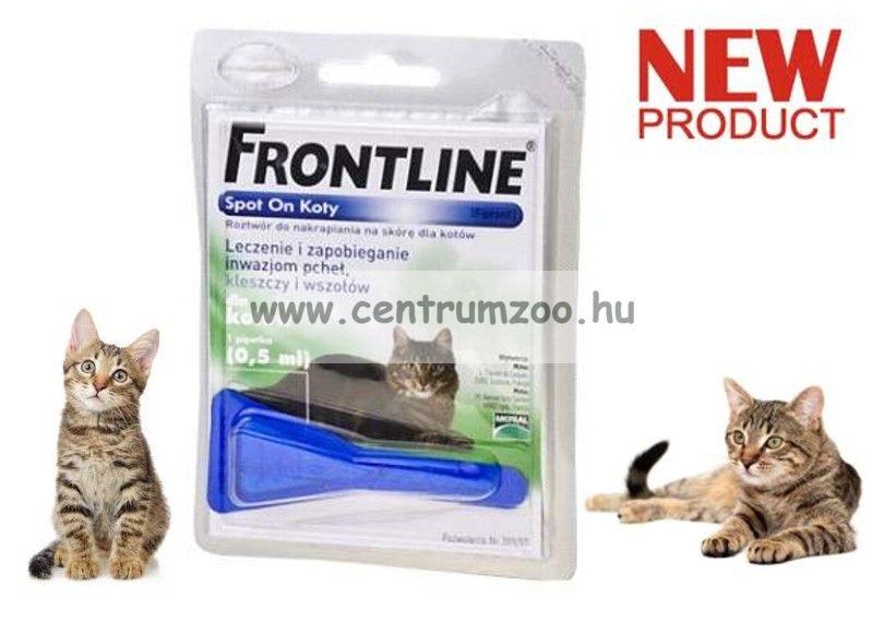 FRONTLINE Spot On kullancs és bolha elleni csepp macskáknak NEW