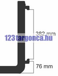 1500 kg teherbírású 1600 mm hosszú 120*40 mm keresztmetszetű targonca villa. A villakocsi mag: 407 mm Jelzése: FEM2-A  ISO2-A  DIN2-A