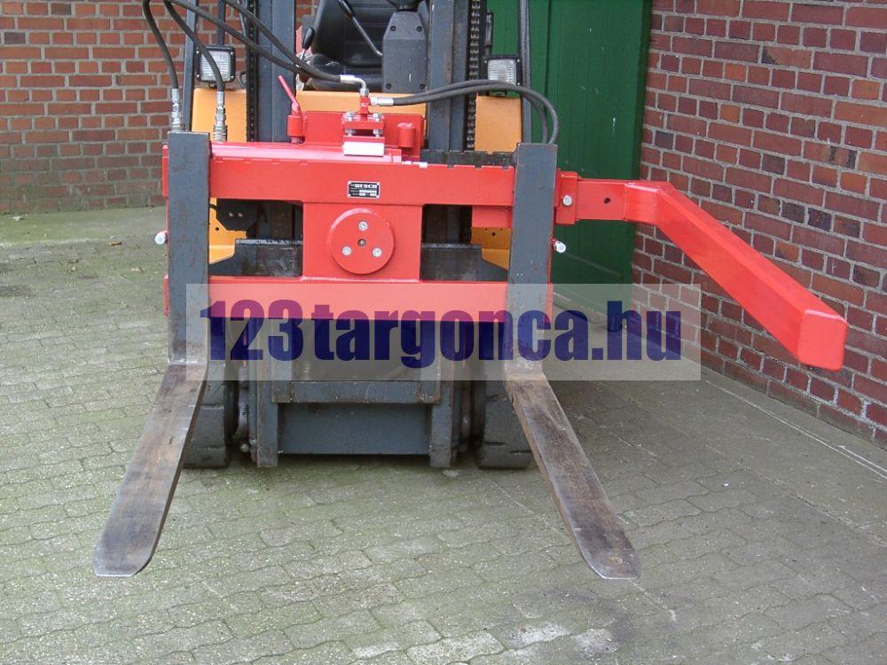 ED 180-508 targoncavilla forgató adapter 2500 kg teherbírásű ládaborító 180 fokos, balra borít