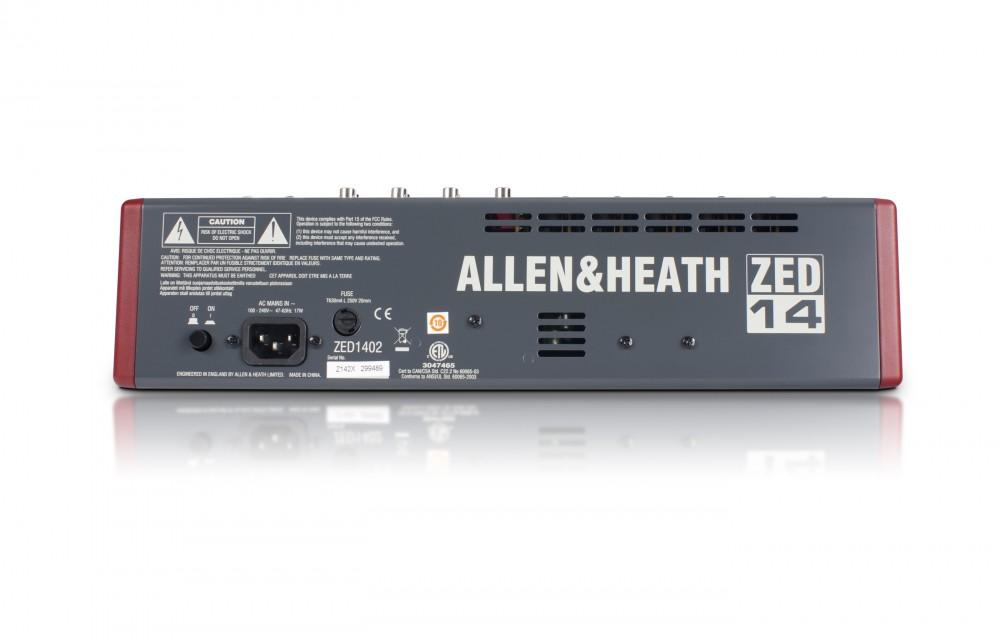 ALLEN & HEATH AH-ZED1402 6MIC-4ST-4AUX-USB KEVERŐ