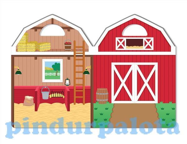 Melissa & Doug Kreatív játék Pufi matrica készlet farm